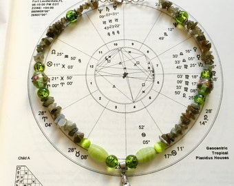 Ocean Nymph Green Aventurine Crystal Necklace