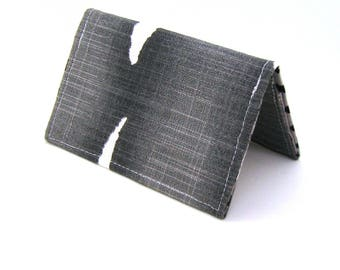 Mini Wallet / Card Holder / Business Card Holder / Card Case / Gift Card Holder/ Small Wallet - Black Watercolor