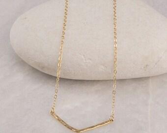 Gold Chevron Necklace/Chevron Necklace/Dainty Chevron necklace/Gold Chevron necklace