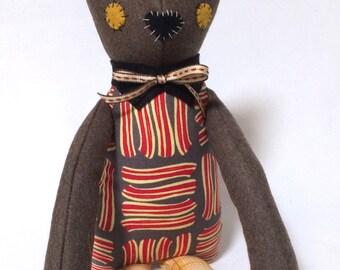 Buck the Cat / Soft Doll / Stuffed Animal / Cat Plush / Art Doll / Toy / Handmade Softie