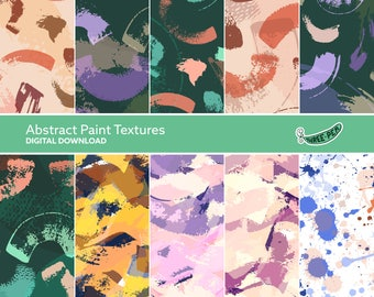 Abstract Paint Textures - Instant Digital Download Patterned Paper Pack