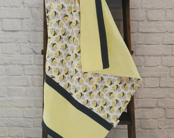 Receiving Blanket - Bumble Bee Stripe