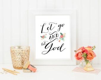 Let go & let God file- instant download-8x10