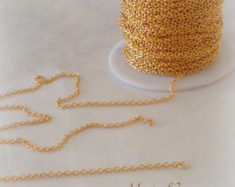 1.90 mm - stainless steel gold plated chain