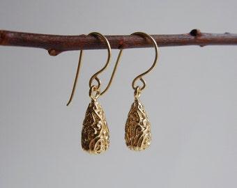 Gold Evadne Earrings