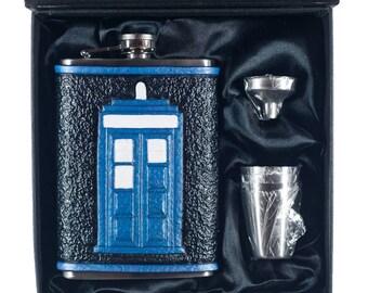 Doctor Who TARDIS Geek Flask Set