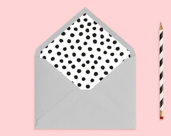 Printable Spot Envelope Liner | Polka Dot Liner | Printable Stationary