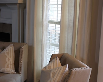 LINEN Window Curtain - Custom Window Curtain/ Drape/ Panel- with or without lining