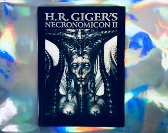 H.R GIGER'S NECRONOMICON II / Rare / Beautiful Huge Art Book Drawings Aliens Occult / Morpheus Edition