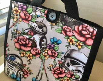 Floral Wars Lunch Tote