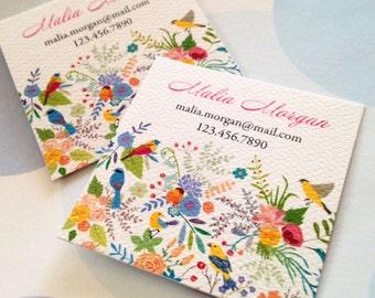 Bird Business Cards, Custom Business Cards - Set of 48