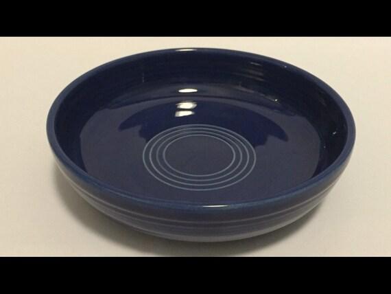 "Free Shipping-Vintage-Cobalt Blue-Fiesta Ware-Homer Laughlin-Made USA-6""-Dessert Bowl"