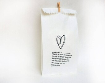 WEDDING favour bags, wedding cake bag, wedding favors, wedding bags, thank you bags, bonboniere, love FAVOUR BAGS x 10