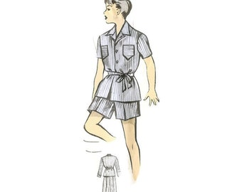 1950s Boys Pajama Pattern Ringier 88420 for 11 years old