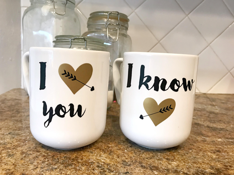 I Love You I Know mug set