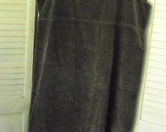 Corduroy Jumper/ Wide Wale Corduroy/ Large Retro Jumper/ Made in USA Clothing/ Vintage Corduroy/ Rescued Funwear/ Shabbyfab Thrift