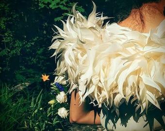 Goose feather bolero