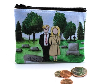 They're Coming To Get You - Small Zipper Pouch - Tribute to Night Of The Living Dead - Art by Marcia Furman