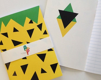 Pineapple A5 Notebook: Blank or Lined