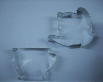 Tea Party Cookie cutter, Teapot and cup Cookie Cutter set, little Girls Tea Parties, teapot cookie cutter