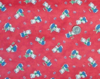 Laminated Cotton: 27 Letters by Chloes Closet for Moda (brick red) - 1 Yard (OOP)