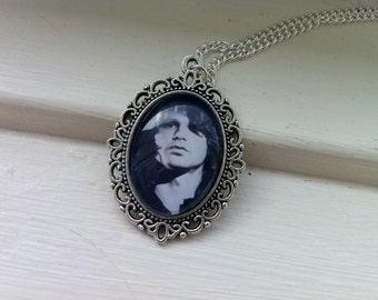 The Doors Jim Morrison Glass Cabochon Necklace