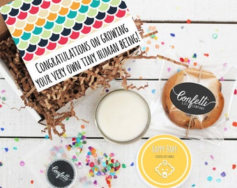 Mini Congratulations on Growing Your Very Own Tiny Human Being Gift Box - Congratulations Gift   New Parents   New Baby Gift   New Mom Gift
