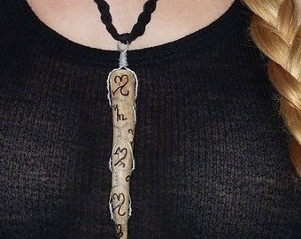SALE! Witch Antler: Witches' Alphabet Wire-Wrapped Necklace (Destroy Enemies)