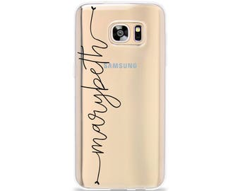 CLEAR Phone Case for Samsung Galaxy S9 Plus, Personalised Phone Case for Samsung Galaxy S8 Plus, Personalized Phone Case for Galaxy S7 edge