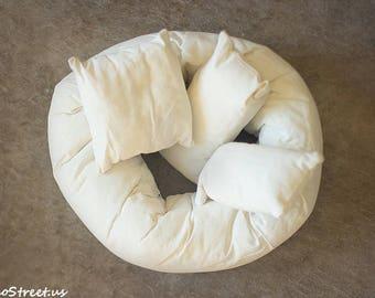 Posing Pillow Set, Posing Doughnut, Photo Props, Posing Cushions, Posing Donut, Newborn Props, RTS, Baby Photo Props