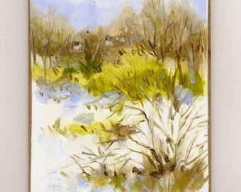 Spring Trying V Original Oil Painting