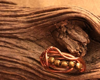 Brass Bead& Copper Ring