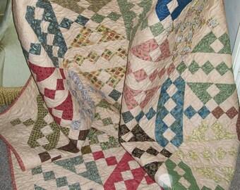 NEW Patchwork Lap Quilt