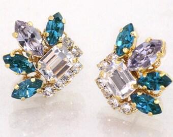 Swarovski victorian style earrings