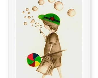 LOLLY POPPING : Art Print A4