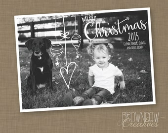 PRINTABLE Christmas Ornament Photo Card