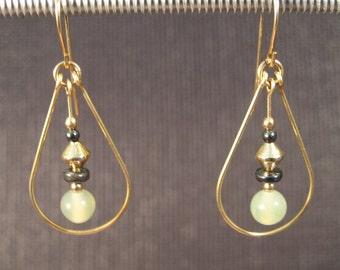Gold-filled Serpentine Teardrop Earrings