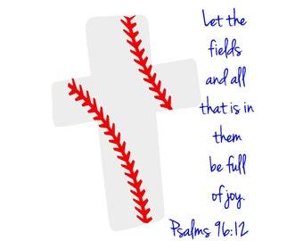 Psalms 96 Baseball SVG or Silhouette Digital Instant Download