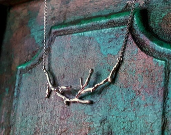 Twig Necklace in Sterling Silver, Tree Branch Necklace, Twig jewelry, Gift ideas