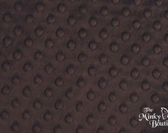 Minky Dot Fabric - Chocolate