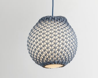 Knitted Pendant Light - Modern Chandelier Lighting - Hanging Dining Lamp - Ceiling Light Fixture - Minimal