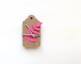 30 Mini Kraft Tags, Price Tags, Gift Tags, Party Favor Tags, Scalloped,  Small Kraft Tags