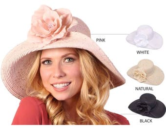 Womens Sun Hat Pink hat Straw Hat Sun Hat Wide Brim Hat Womens Hats Womens Gift Ideas Brim Hat Beach Accessories anniversary gift for wife