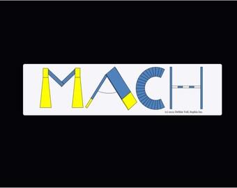 Dog Agility Car Magnet AKC MACH Title