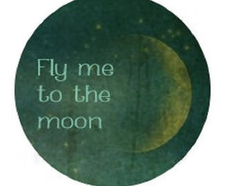 "25mm cabochon ""fly to the moon"""