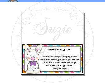 Easter Bunny Food Topper - Digital Printable - Immediate Download