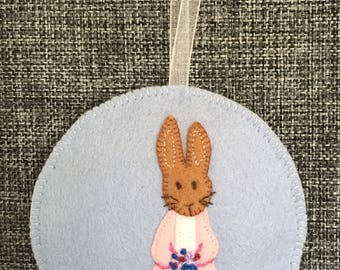 Rabbit Ornament, Christening gift