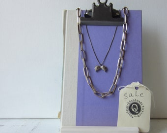 One Clipboard Necklace / Earring Display - Pastel Purple - Recycled Book Jewelry Display - Ready to Ship - Colorful Signage Display