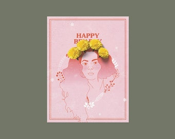 ON VACATION, will ship 5/28* Beyoncé - Happy Bey Day, Happy Birthday Card, Cute Birthday Card, Funny Birthday Card, Geeky Greeting Card