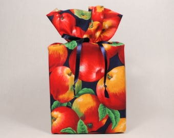 Red Apples Tissue Box Cover/Kleenex Box Cover, Bathroom Accessories/Bathroom Decoration, Apples Accessories/Apples Home Decor.